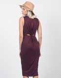 Back View of Twist Back Midi Dress