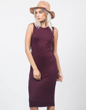 Front View of Twist Back Midi Dress