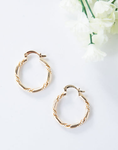 Twisted Mini Hoop Earrings