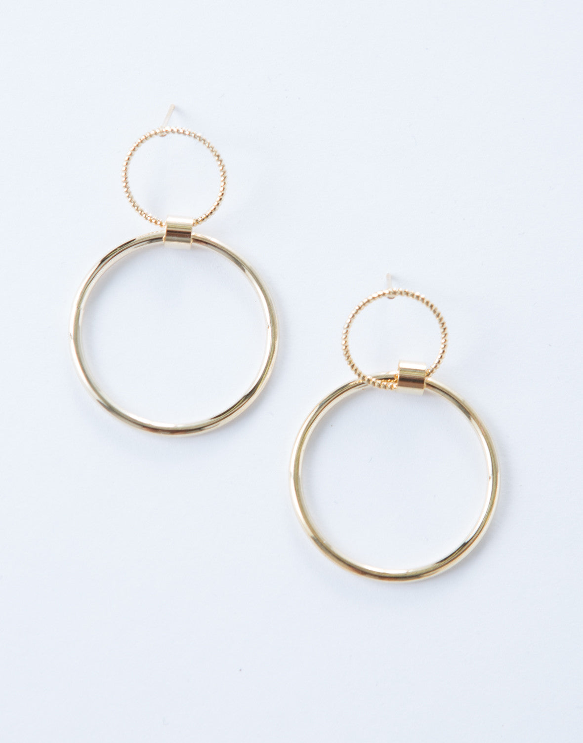 Twisted Mini Ring Drop Earrings