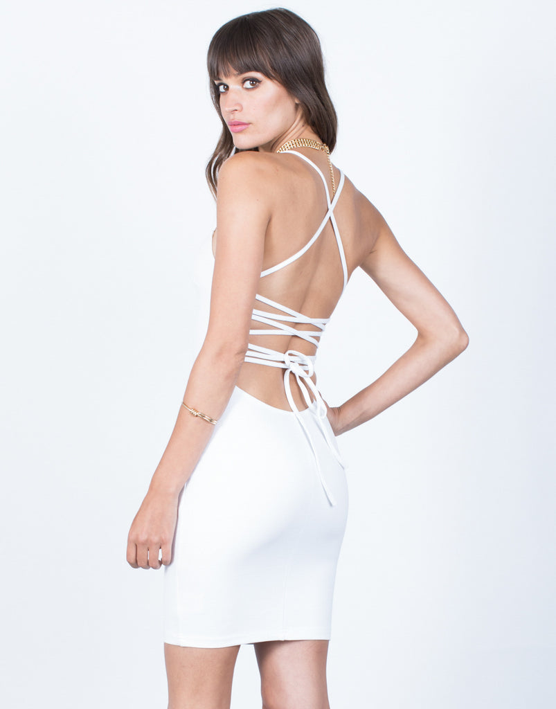 Back View of Twisted Party Dress