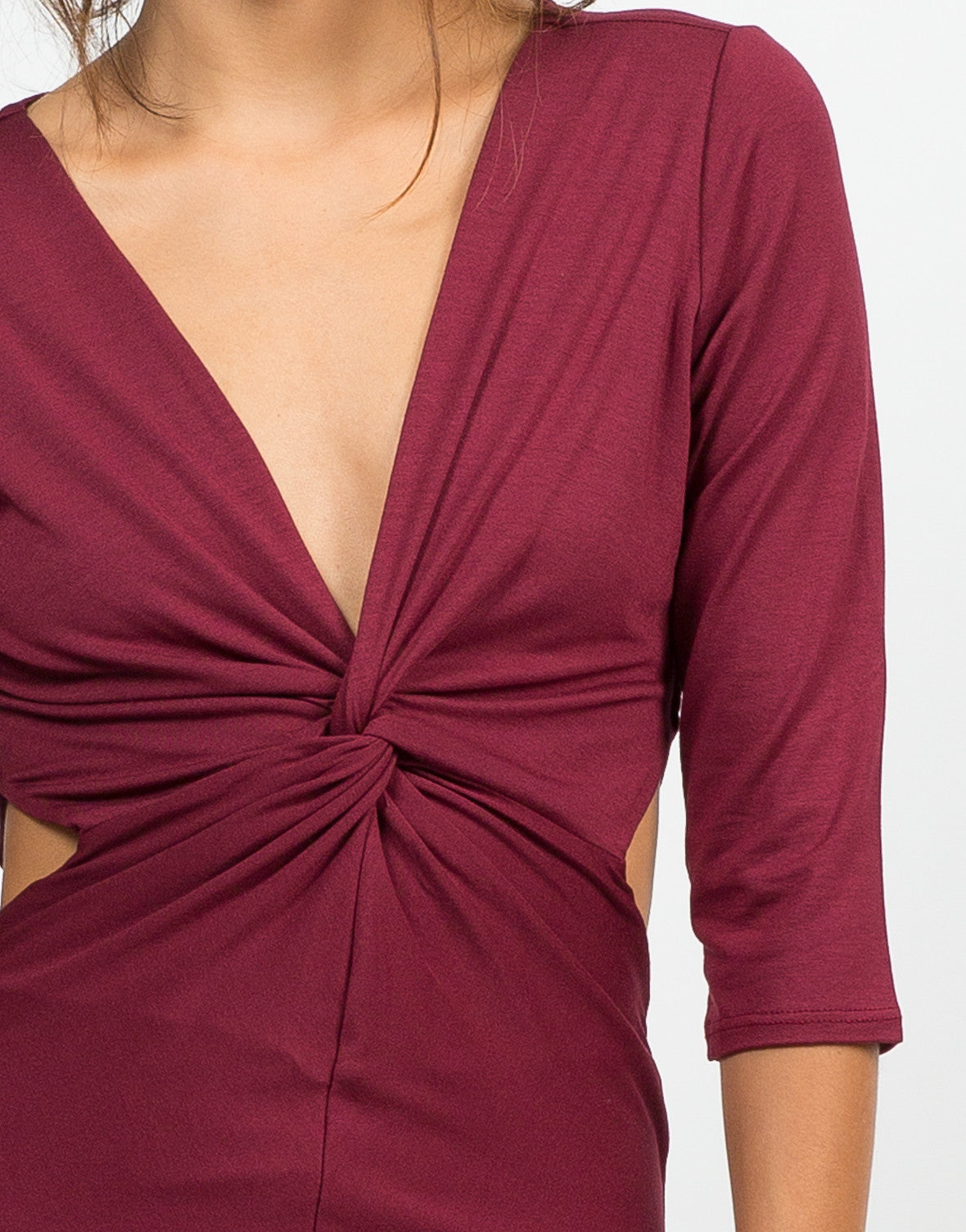 Detail of Twist Front Cut Out Dress