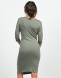 Back View of Twist Front Cut Out Dress