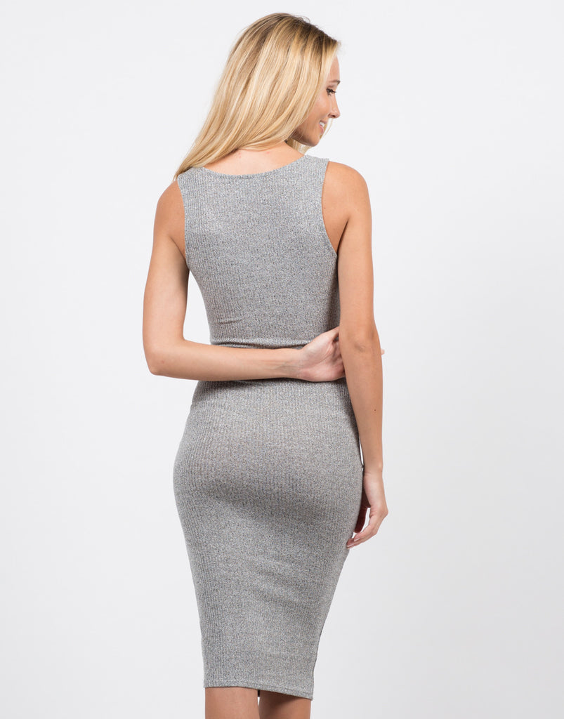 Back View of Twist Front Dress