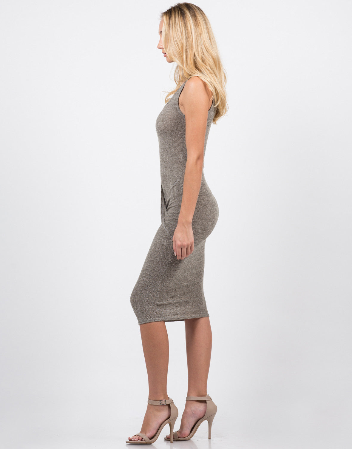 Side View of Twist Front Dress