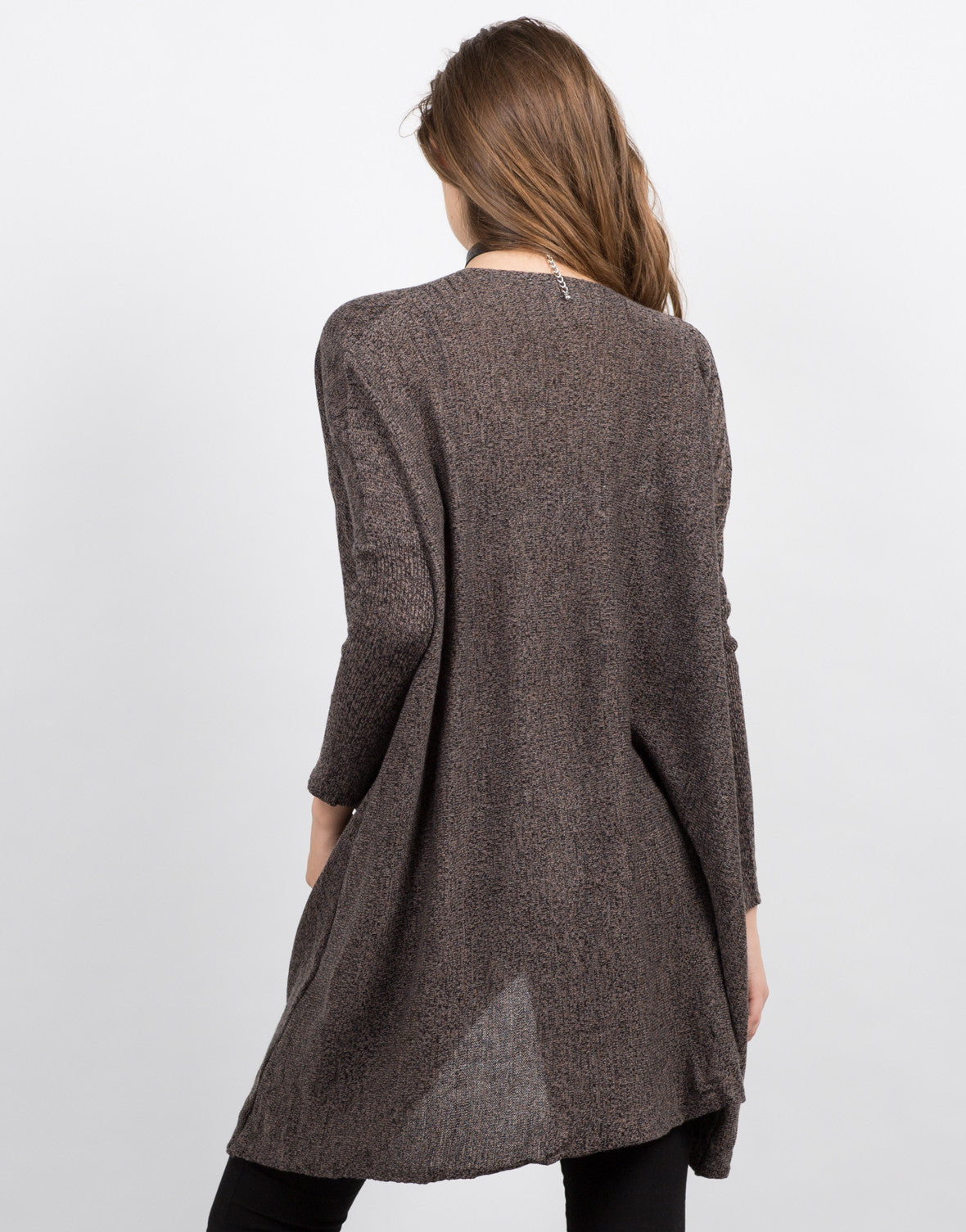 Back View of Twist Front Sweater Top