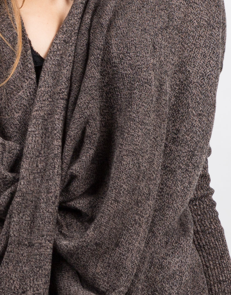 Detail of Twist Front Sweater Top