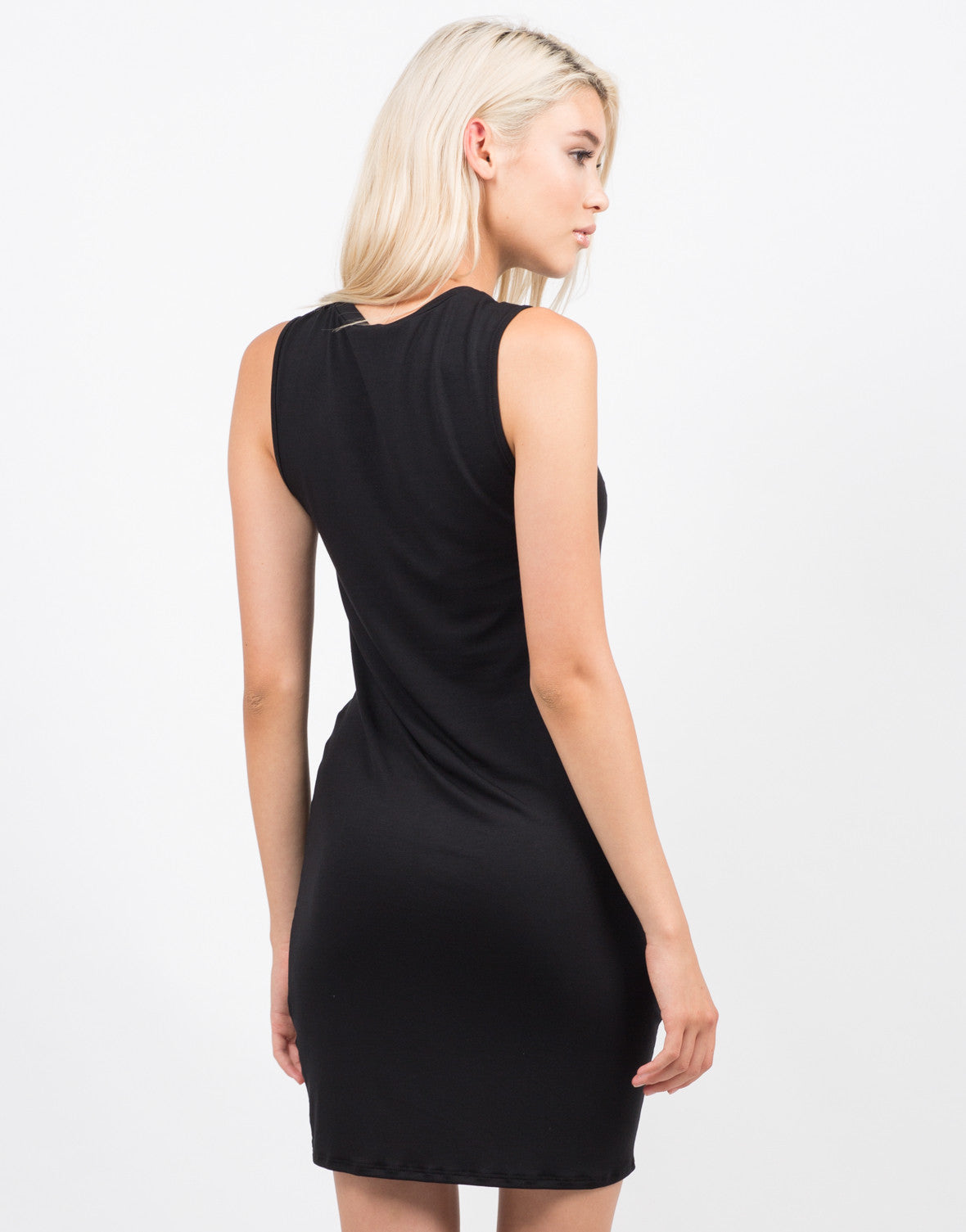 Back View of Twist It Sleeveless Dress
