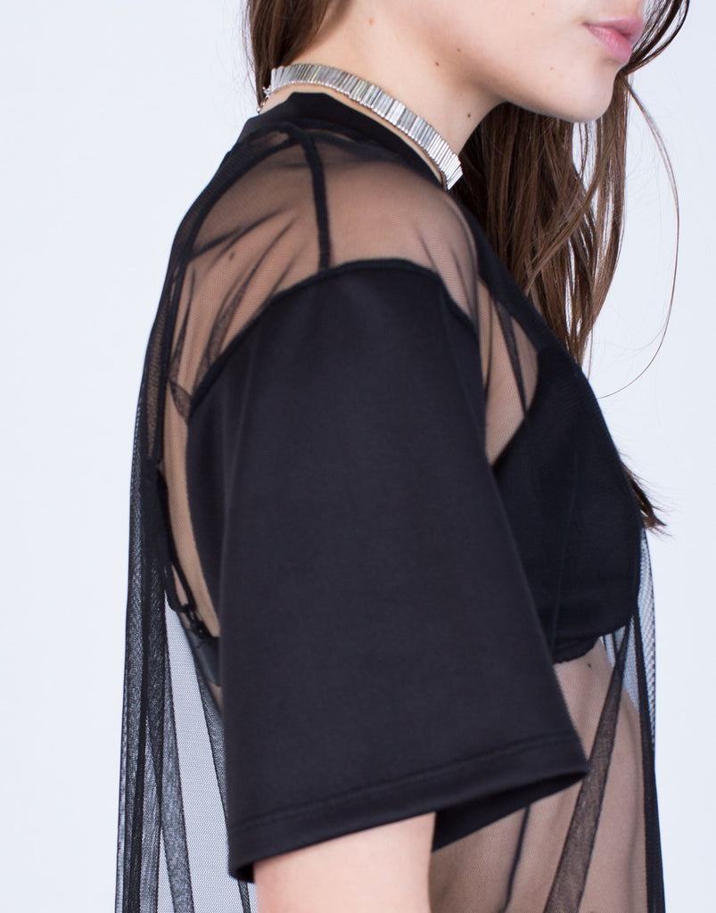 Detail of Two in One Mesh Top