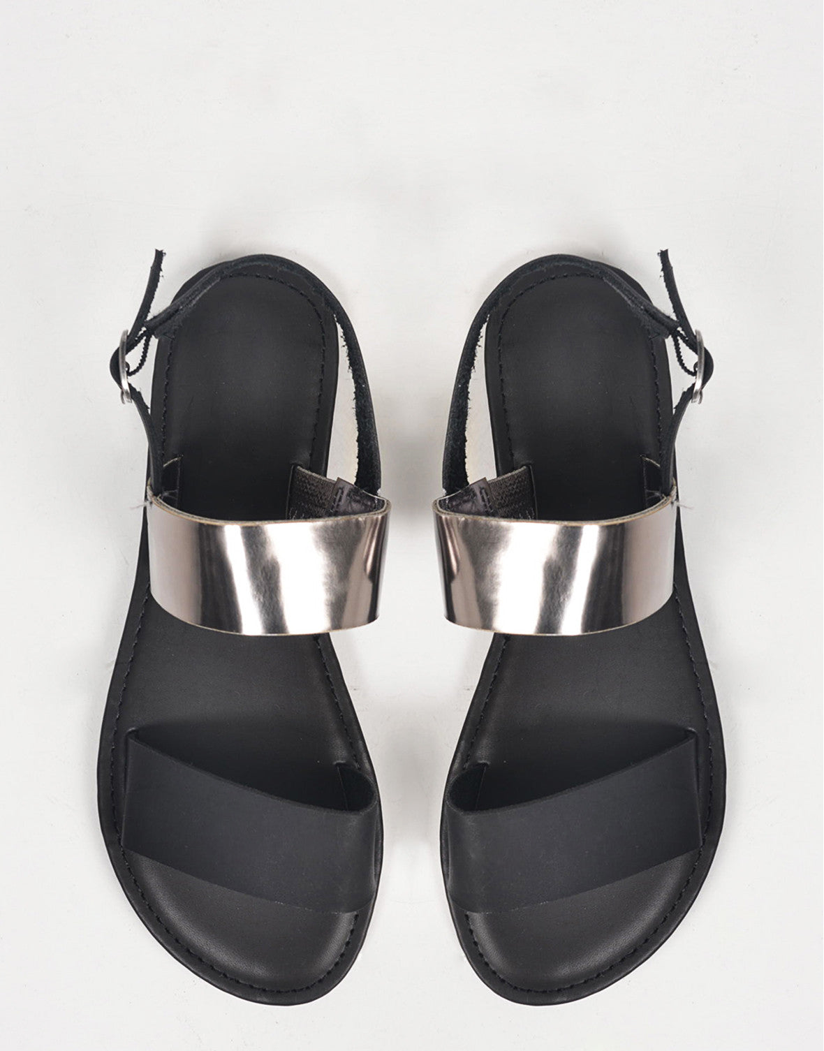 Two Toned Metallic Sandals - 2020AVE