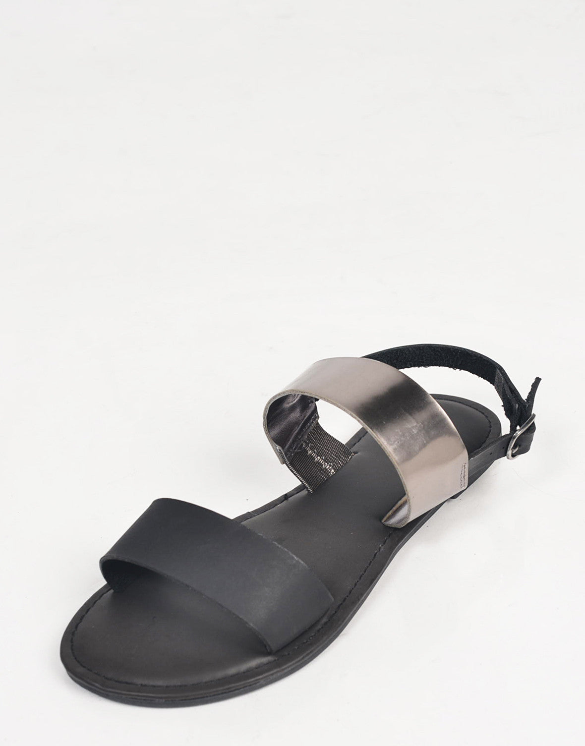 Two Toned Metallic Sandals