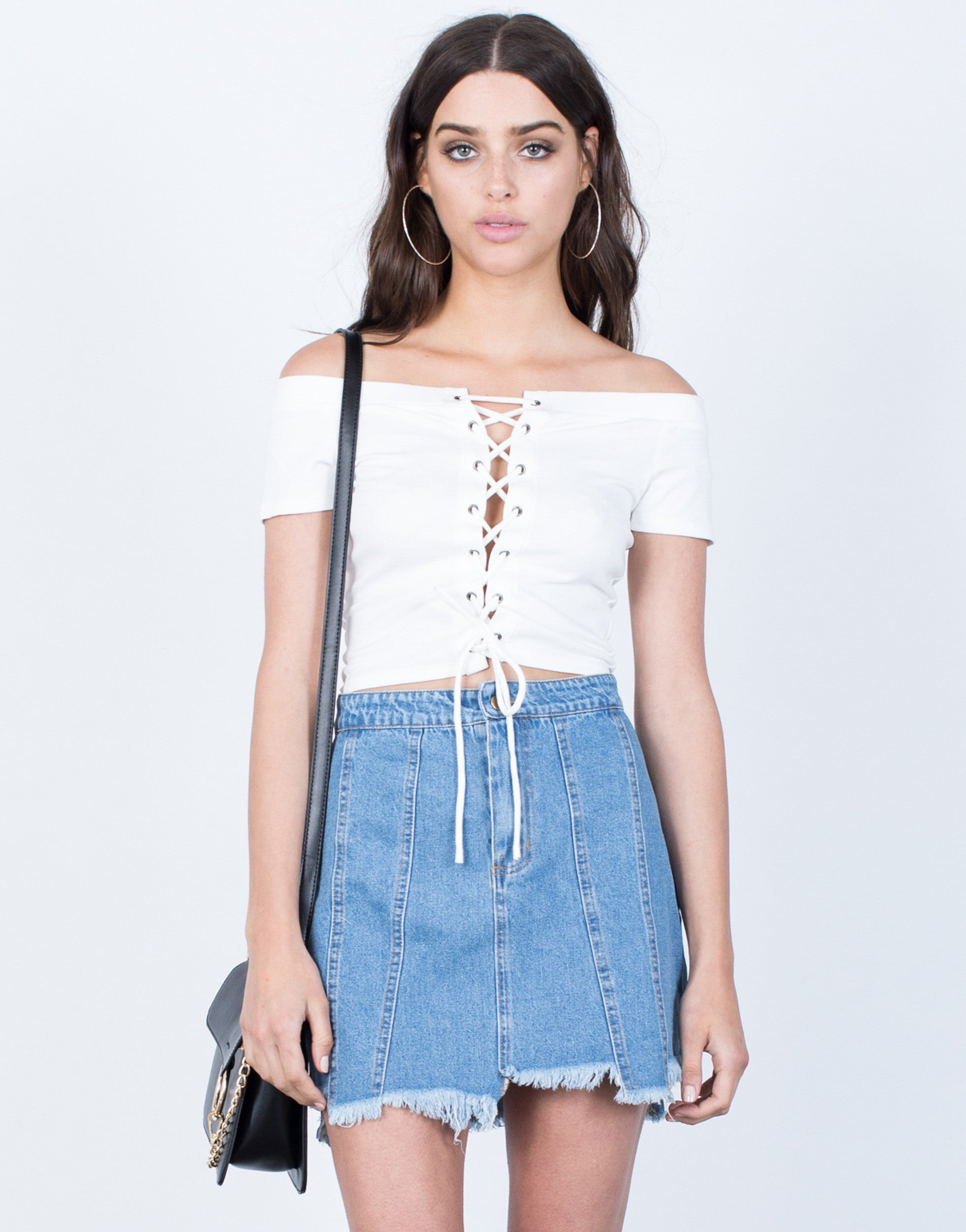 Unbalanced Denim Skirt - 2020AVE