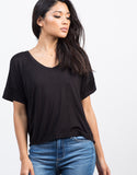 Detail of V-Neck Boxy Tee