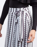 Detail of Vacation Printed Flowy Skirt