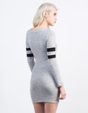 Back View of Varsity Striped Dress