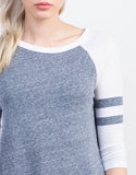 Detail of Varsity Striped Raglan Tee