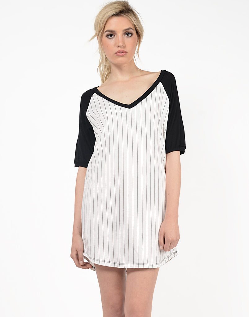 Varsity Striped Tunic Tee