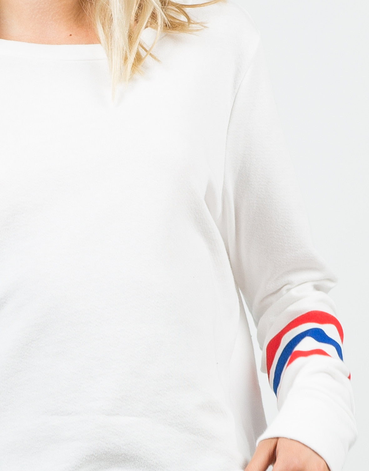 Detail of Varsity Sweater Top