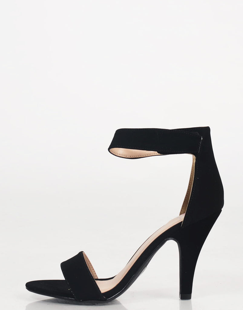 Velcro Ankle Strapped Open Toe Heels