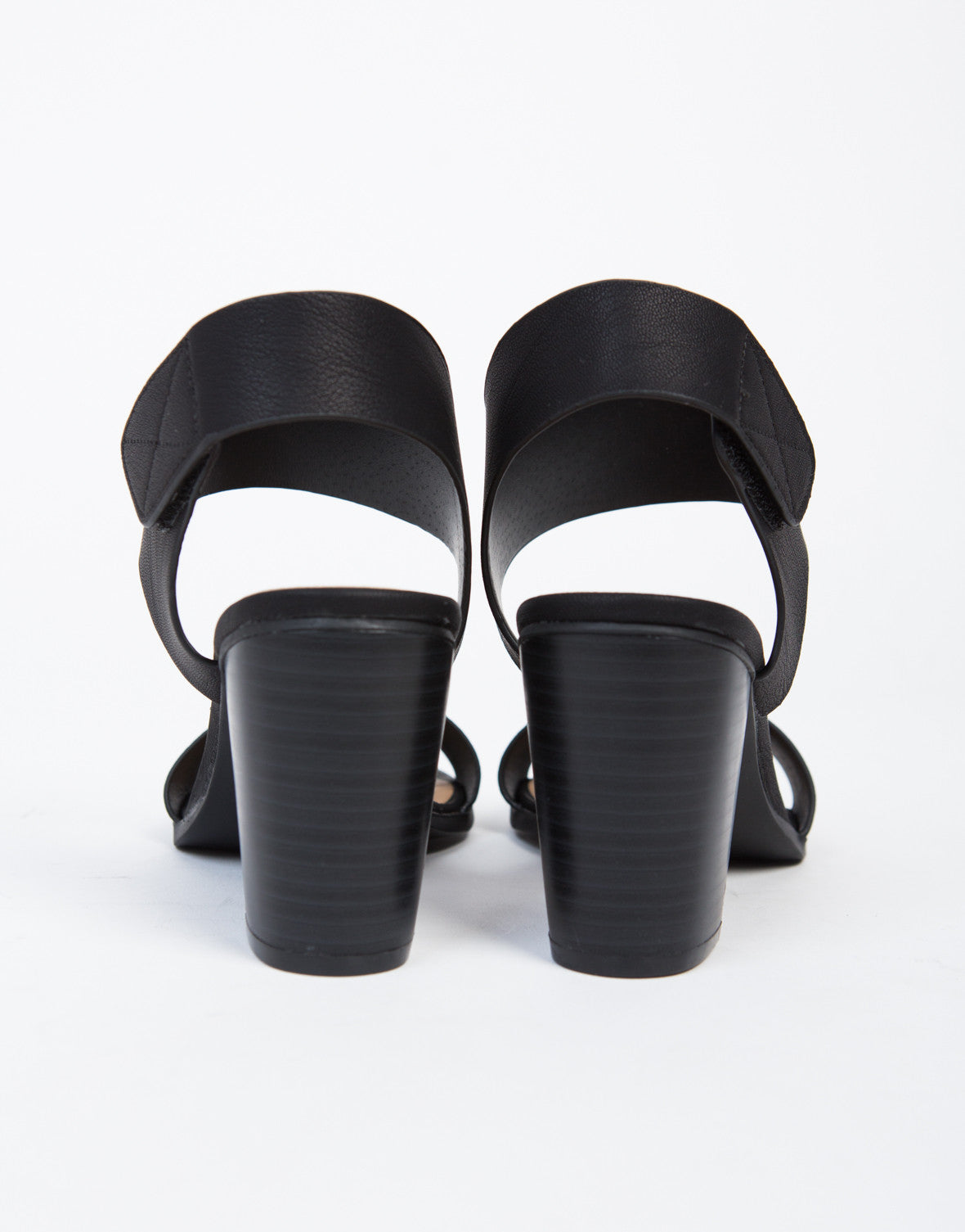 Velcro Chunky Heeled Sandals