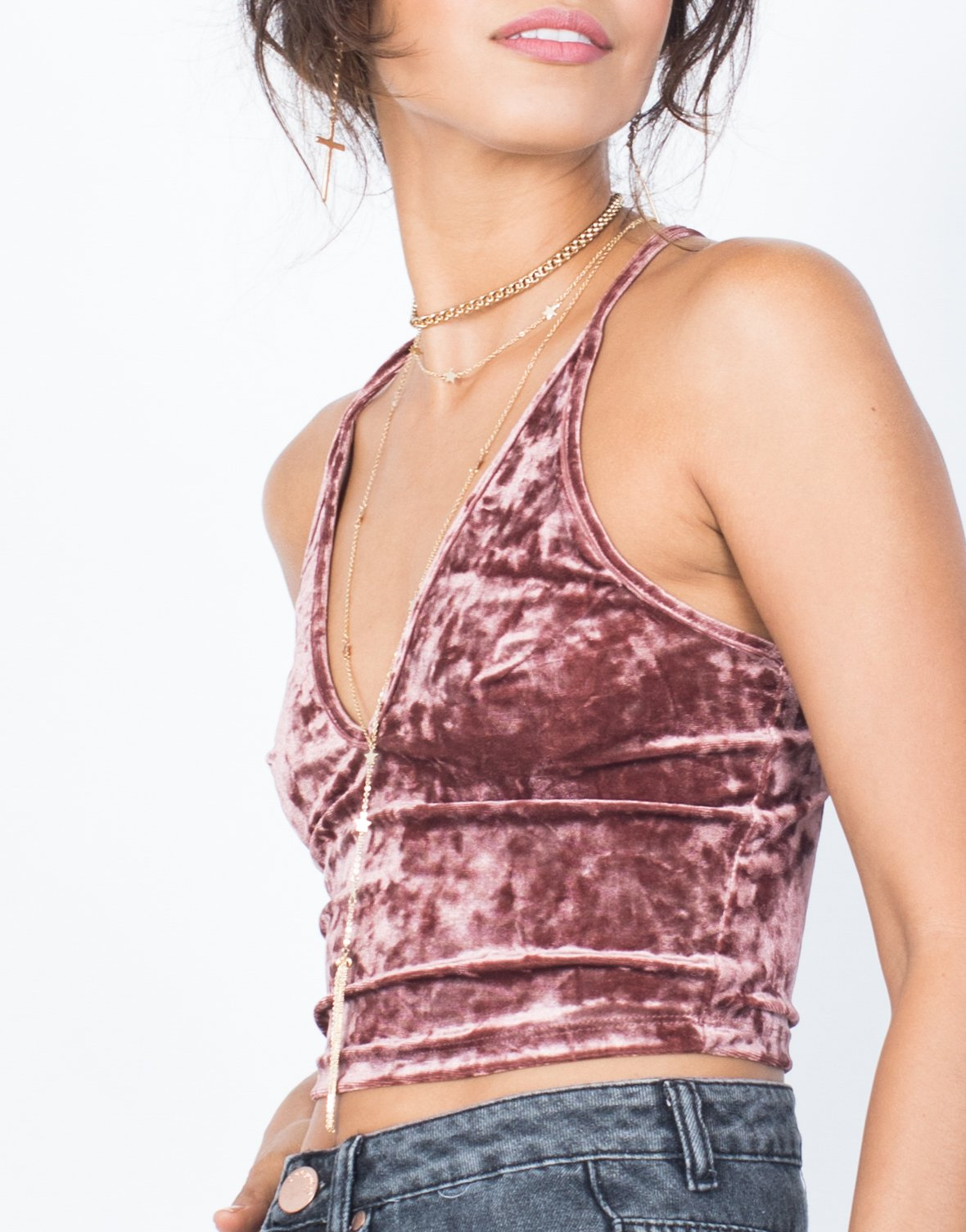Velvet Crush Crop Top