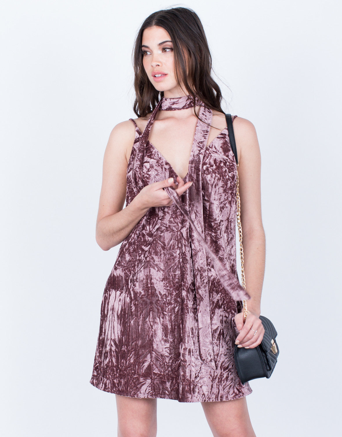 velvet crush party dress  dark purple dress  velvet