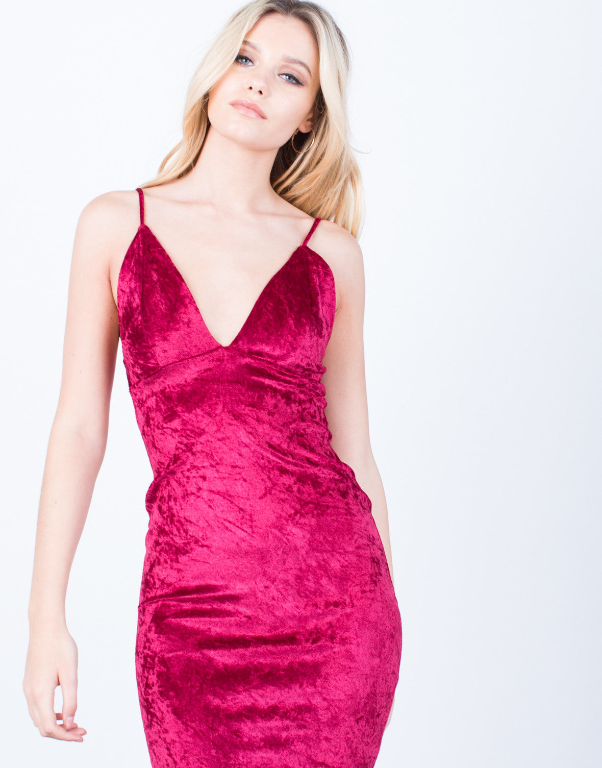 Detail of Velvet Midi Slip Dress