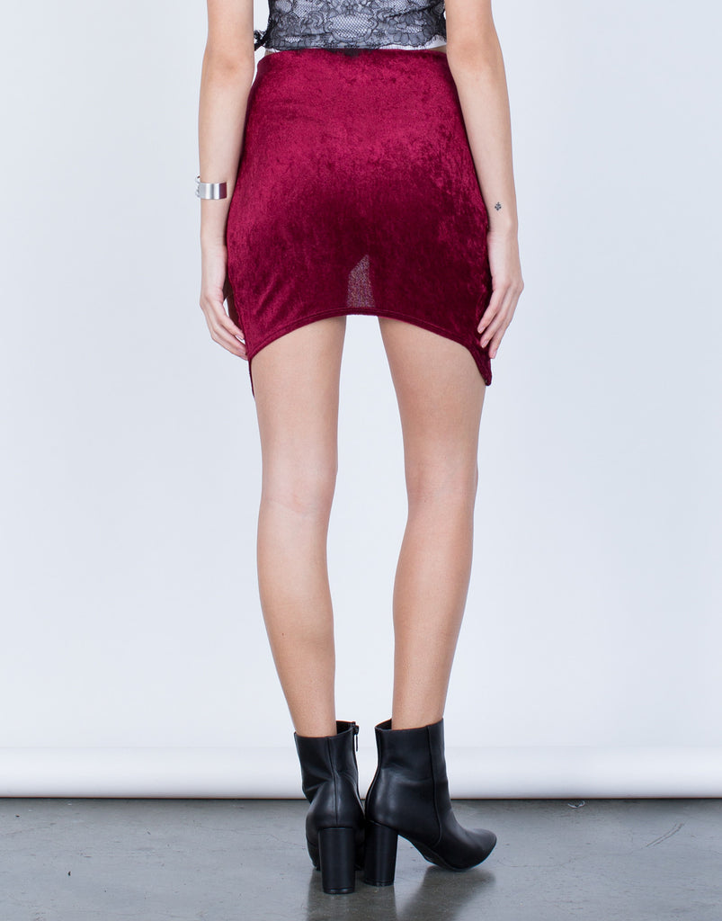 Velvet Wrap Skirt - 2020AVE