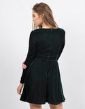 Back View of Velvet Party Dress