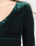 Detail of Velvet Party Dress