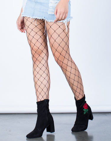 Versatile Netted Stockings