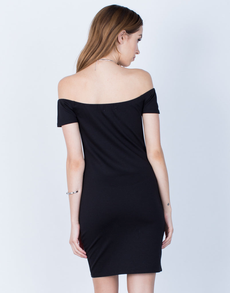 Back View of Versatile Off-the-Shoulder Dress