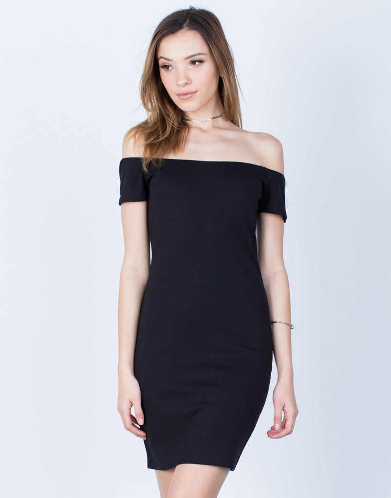 Front View of Versatile Off-the-Shoulder Dress