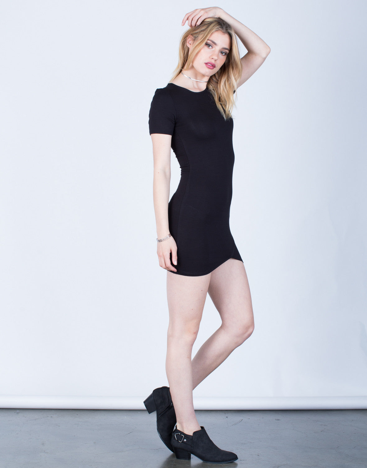 Side View of Versatile Tee Dress