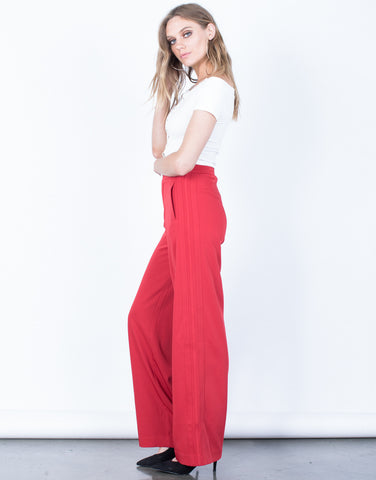 Side View of Vibrant Track Pants