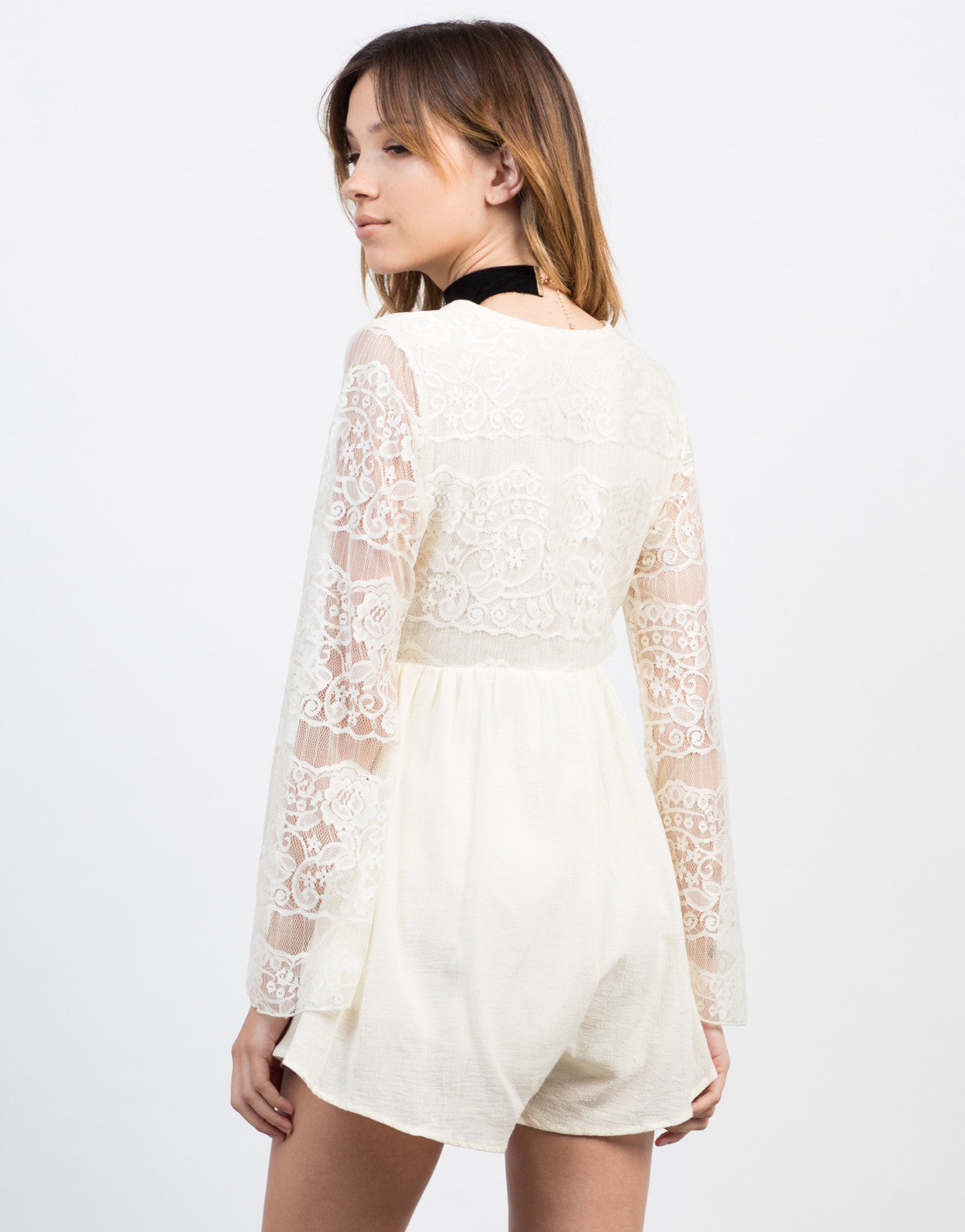 Back View of Victorian Lacey Romper