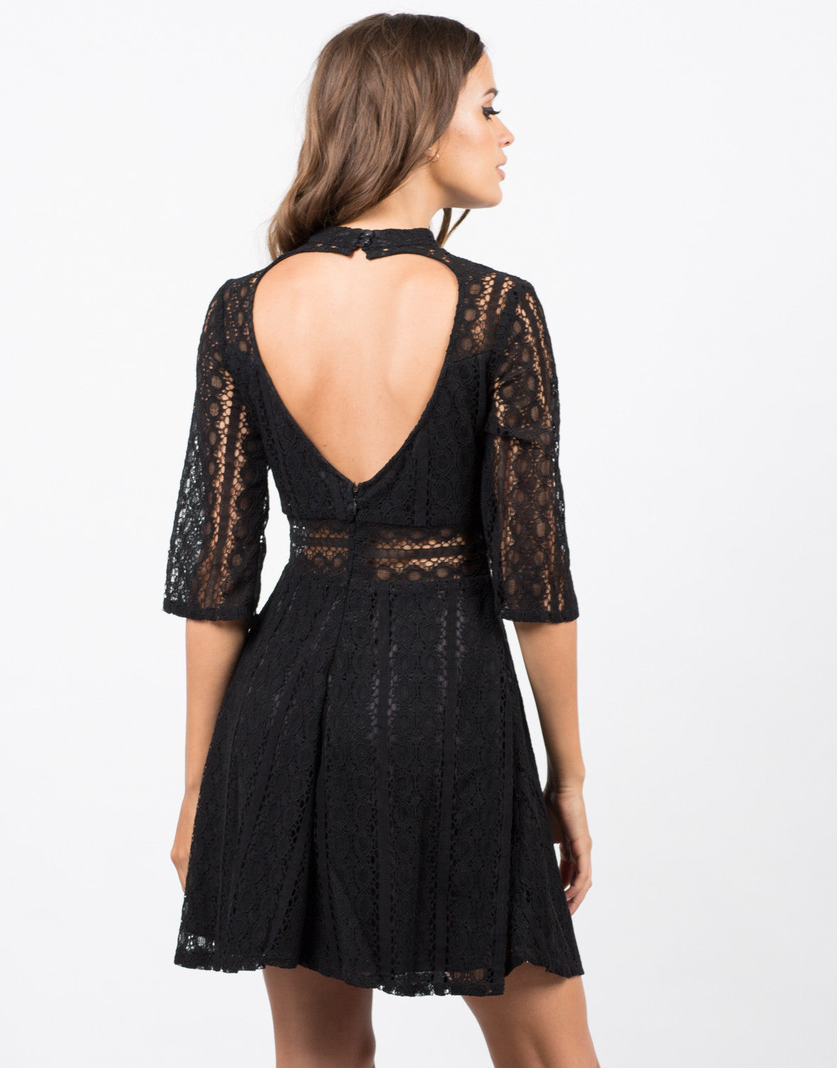 Back View of Victorian Lace Dress