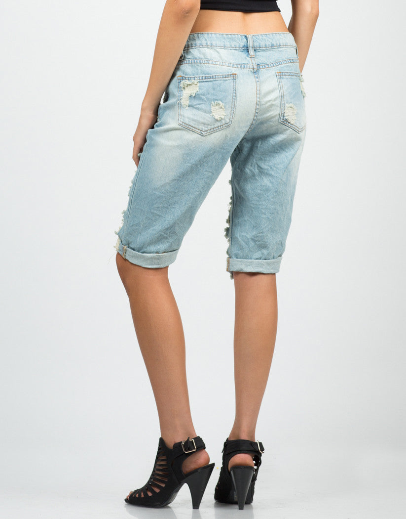 Back View of Vintage Bermuda Shorts