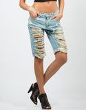 Front View of Vintage Bermuda Shorts