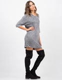 Side View of Vintage Faded T-Shirt Dress