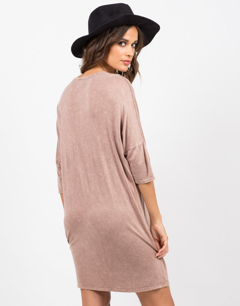 Back View of Vintage Faded T-Shirt Dress