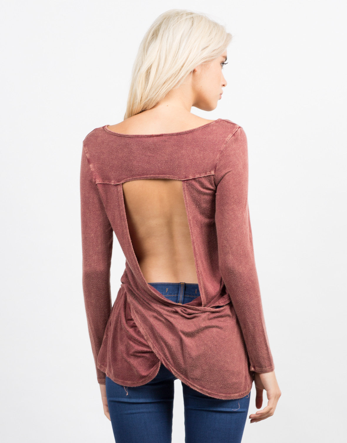 Back View of Vintage Open Back Tee