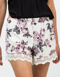 Detail of Vintage Rosey Shorts