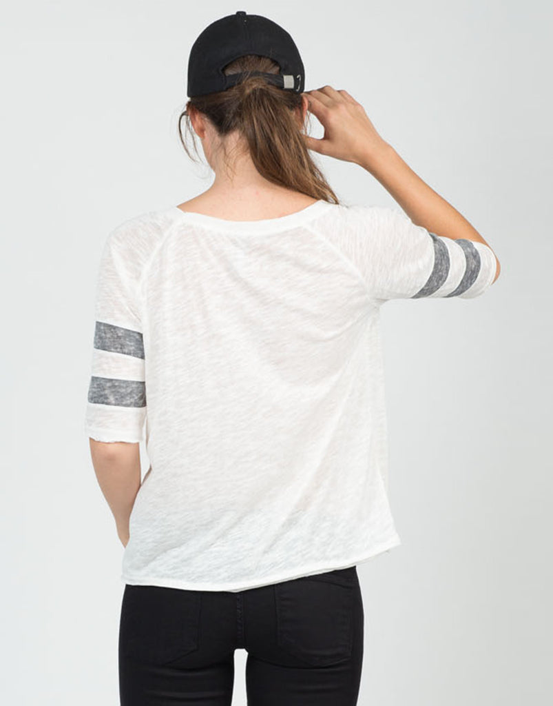 Back View of Vintage Sporty Tee
