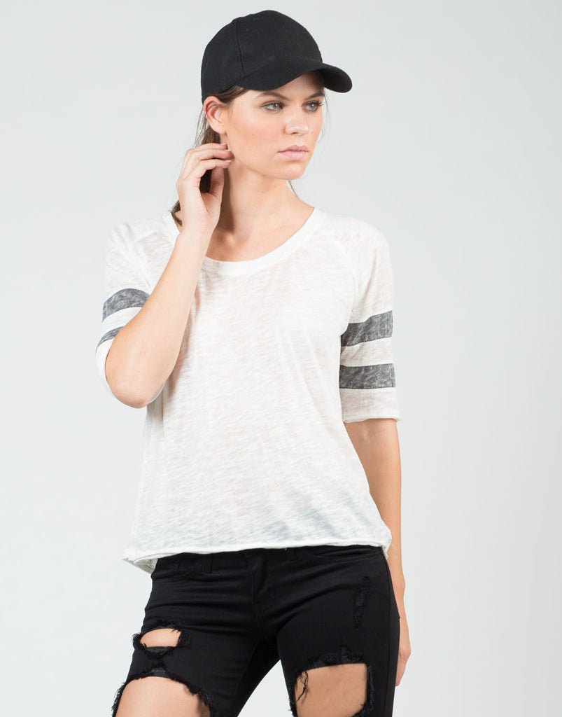 Front View of Vintage Sporty Tee