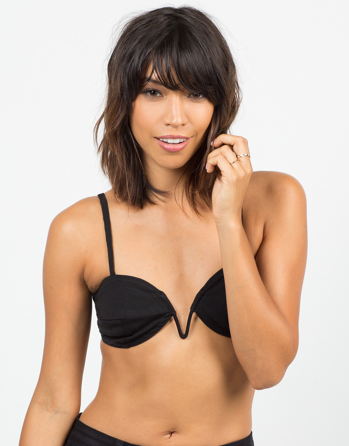 Front View of V-Wired Bralette