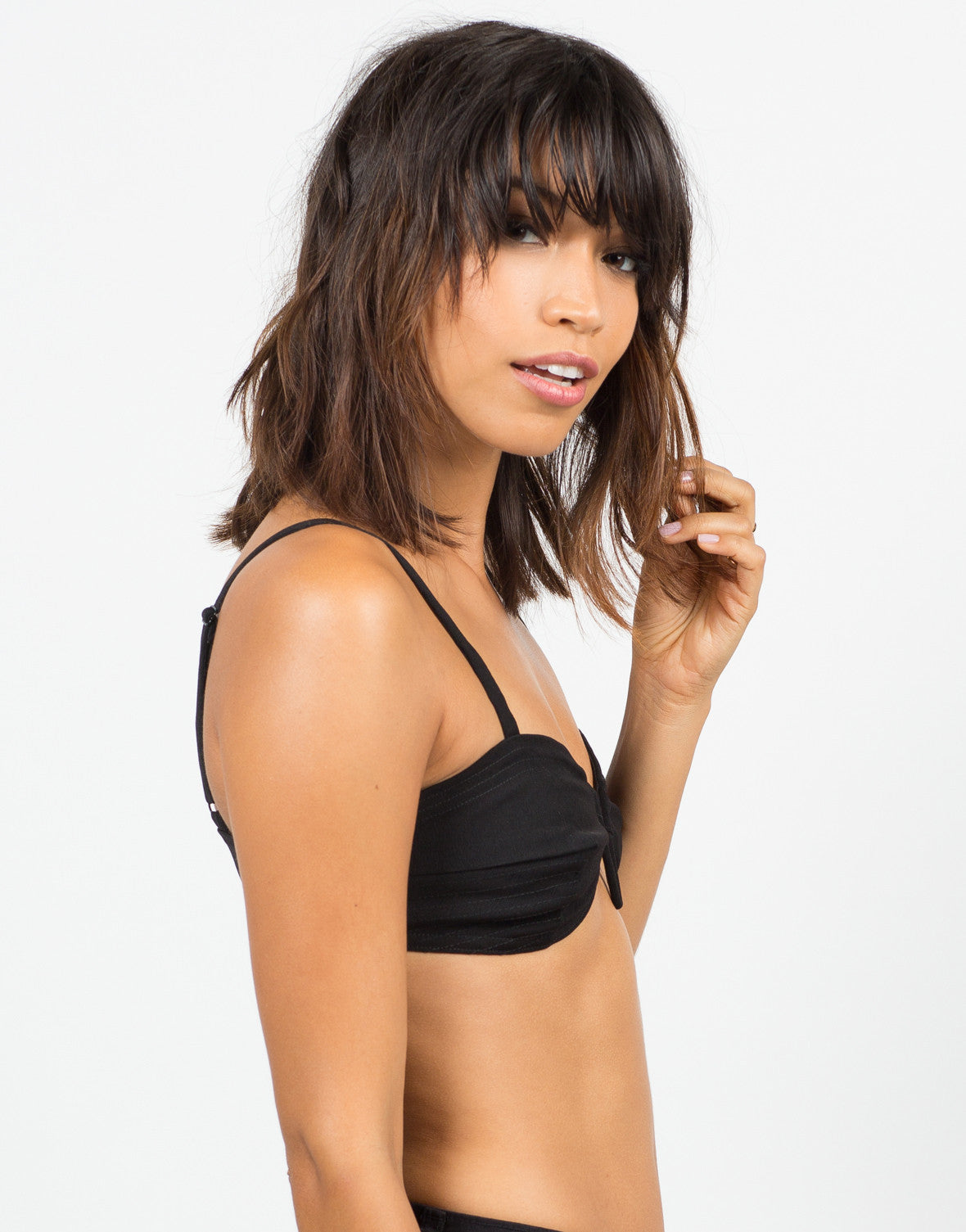 Side View of V-Wired Bralette