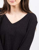 Detail of Waffle Knit Sweater Top