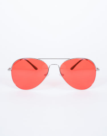 Red Warm Days Sunnies - Front View