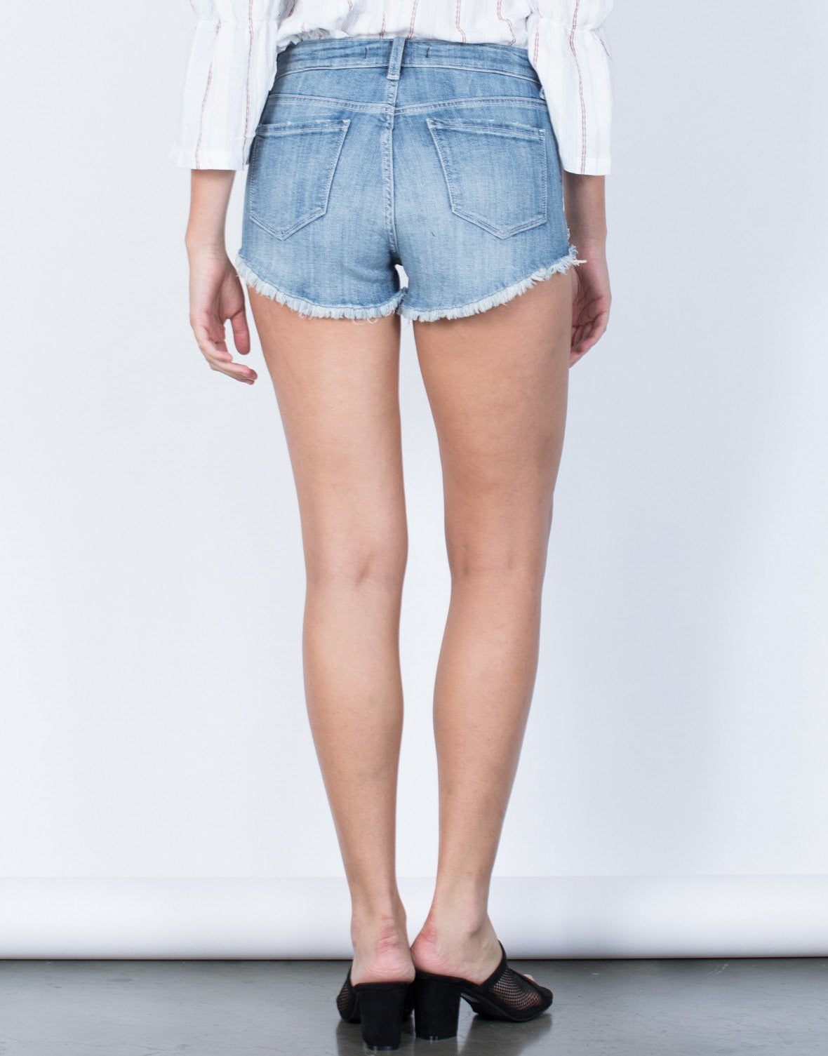 Washed Out Frayed Shorts